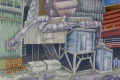Factory 02, watercolour, 36x51 cm, 2017