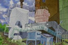 factory 05, watercolour, 36x51 cm, 2017