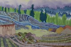factory 06, watercolour, 36x51 cm, 2017