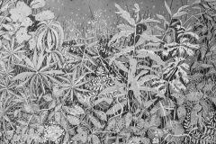 Ryteikkö, 120 x 80 cm, ink on paper, 2020