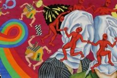 In Love, watercolour, 110x260 cm, 2004