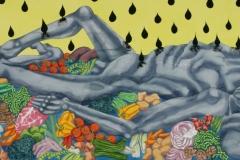 Deep Dream, watercolour,110x260 cm, 2004