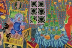 Single Room, watercolour, 110x260 cm, 2004