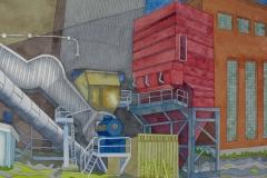 factory 03, watercolour, 36x51 cm, 2017