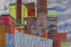 factory 04, watercolour, 36x51 cm, 2017