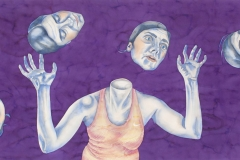Juggler, watercolour, 110x260 cm, 2012