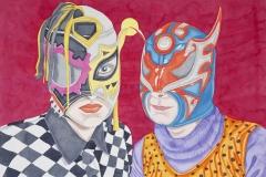 Portrait of Friendship, watercolour,110x200 cm, 2012