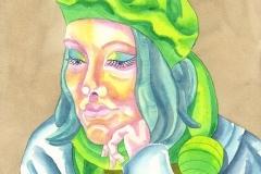 Ursula 10, watercolour on paper, 2015-20
