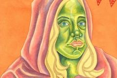 Ursula 11, watercolour on paper, 2015-20