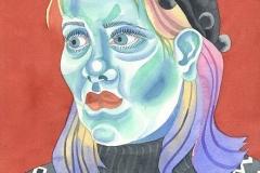 Ursula 12, watercolour on paper, 2015-20