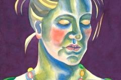 Ursula 03, watercolour on paper, 2015-20