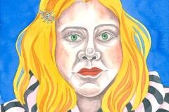 Ursula 04, watercolour on paper, 2015-20