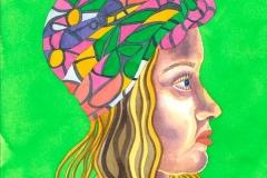Ursula 06, watercolour on paper, 2015-20